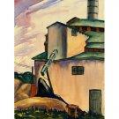 "ISU Heating Plant (Iowa State Power) (~17.5""H x 13.25""W, Std.; Giclee Print of Watercolor Painting)"