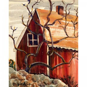"""Twisted Tree (12.5"""" H x 10"""" W, Medium; Giclee Print of Watercolor Painting)"""