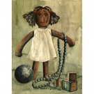 "Doll (22"" H x 14.25"" W, Large; Giclee Print of Watercolor Painting)"