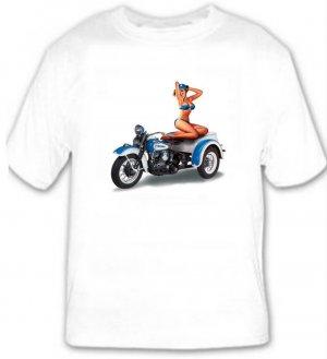 Motorcycle Pin-Up