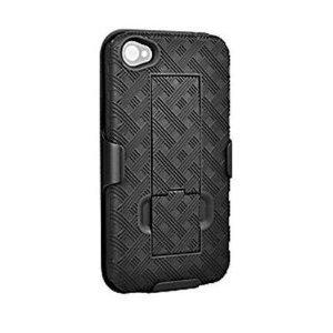 Apple iPhone 4 Shell Holster Combo w/ Kickstand (AIP4HOC) (Bulk Packaging)