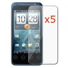 5x HTC EVO SHIFT 4G Premium Clear LCD Screen Protector Cover FREE SHIPPING!