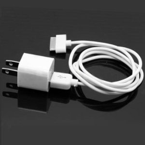 iPhone 3G, 3GS, 4 USB Wall Adapter Charger with USB to Dock Connector cable FREE SHIPPING!