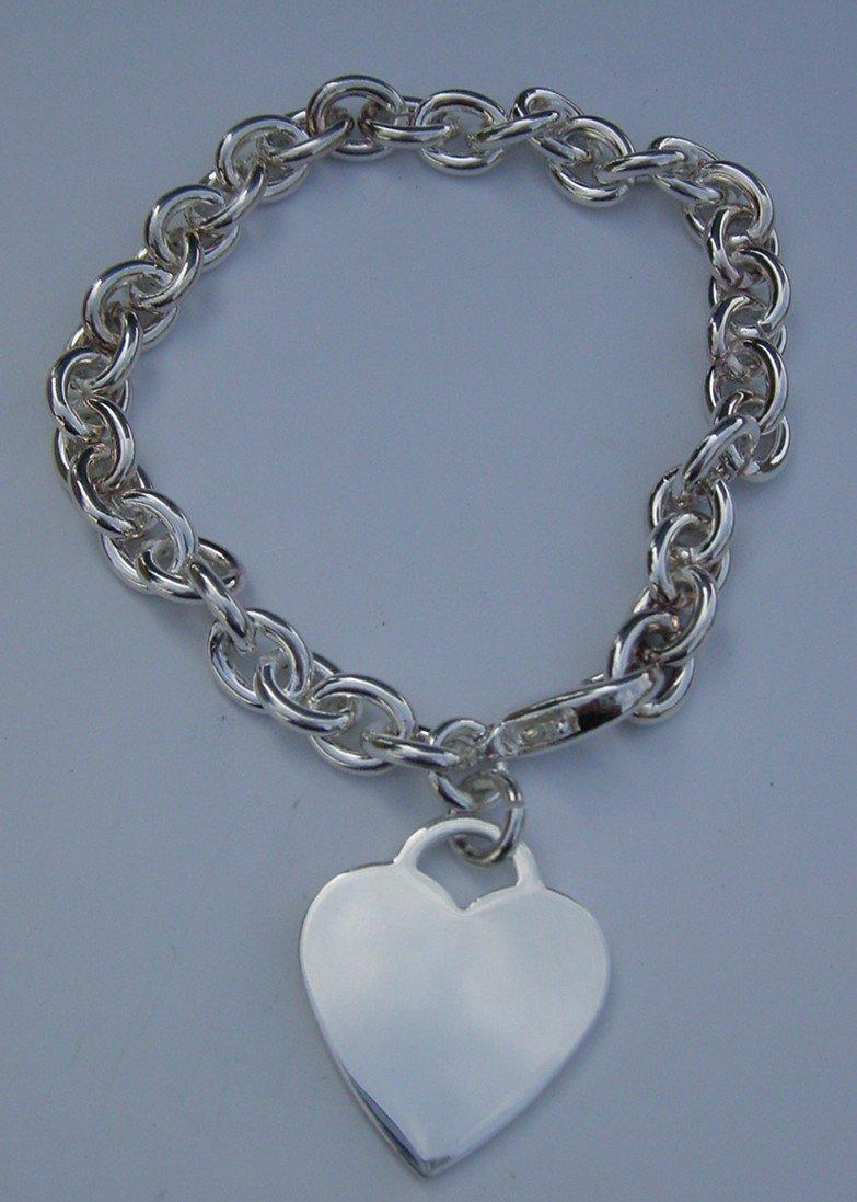 New Sterling Silver Heart Bracelet