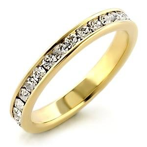 New Engagement/Wedding Band With Top Grade Crystal Size 6