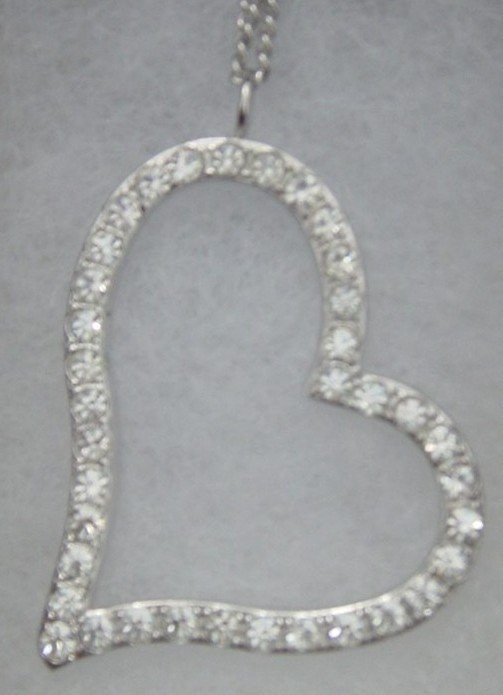 New Top Grade Crystal Heart Chained Pendant