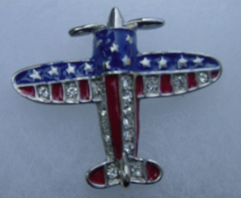 New Jet Flag Brooches