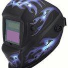 Welding Helmet Auto Darkening Blue Flames