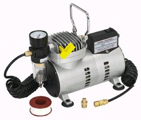 1/8 HP OILLESS AIRBRUSH COMPRESSOR