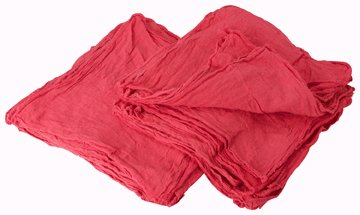 "50 All Purpose Red Shop Towels 13"" x 14"""