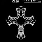 Cross rhinestone motif