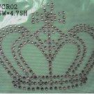 Crown design hot fix motif