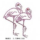 Flamingo design rhinestone transfer