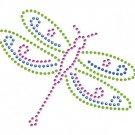 Dragonfly design rhinestone motif