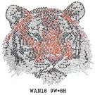 Tiger design rhinestone transfer
