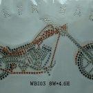 motorcycle design rhinestone transfer
