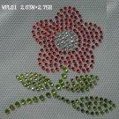 Flower hot fix motif