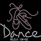 Dance rhinestone design