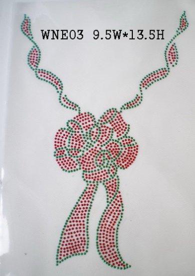 Neckline design rhinestone motif
