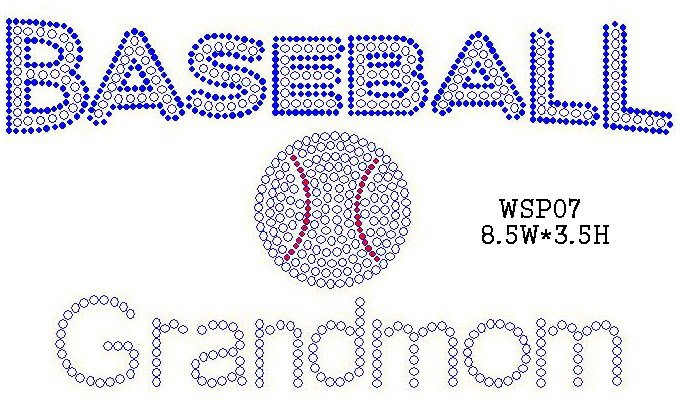 Baseball  rhinestone design