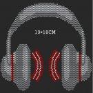 Music designs rhinestone motif