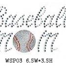 Sport design stone motif
