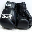 Reyvel boxing gloves Genuine Leather 12 oz Black