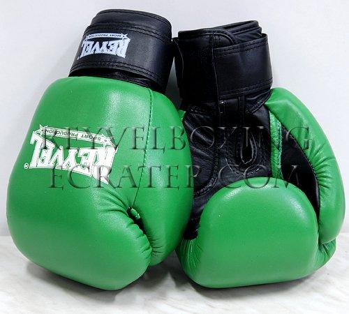 Reyvel boxing gloves Genuine Leather 12 oz Green