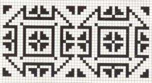 Counted cross stitch pattern - Romanian embroidery -8
