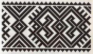 Counted cross stitch pattern - Romanian embroidery -9