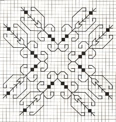 Counted back  stitch pattern - Romanian embroidery -13