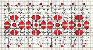 Counted back  stitch pattern - Romanian embroidery -16