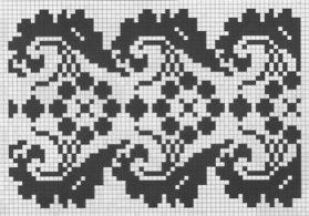 Counted cross stitch pattern - Romanian embroidery -18