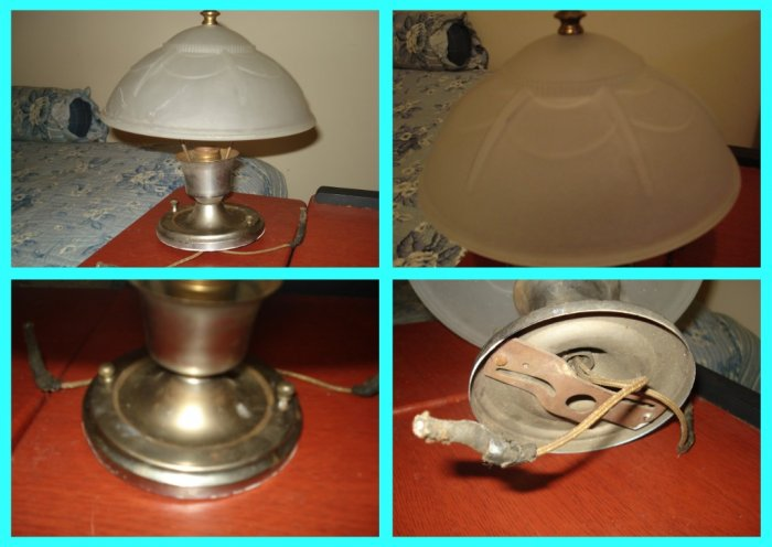 Antique Vintage Wall Lamp Frosted Glass Globe Over 100 Yrs old
