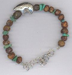 Bear Bracelet w/ Ghost Beads