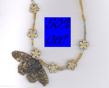 Glow in the Dark REAL butterfly pendant necklace-50% OFF!