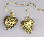 Cross in Heart Earrings-gold