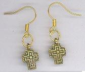 Cross Earrings-gold