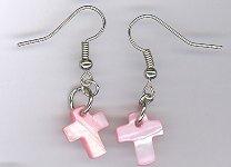 Shell Cross Earrings