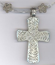 Large Cross Necklace w/ Flowers