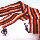Scarf: Navy, Orange, & White