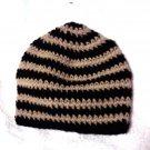 Skullie: Black & Cream Striped