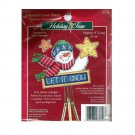 """Holiday Time Counted Cross Stitch """"Cheery Snowman"""" No. 7912"""