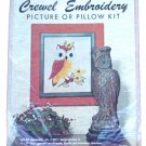 Elsa Williams Needlecraft Owl Crewel Embroidery Kit KC275