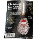 What's New Inc. Christmas Tree Candle Cross Stitch Kit 027109 Santa Face