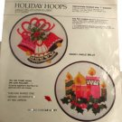 Bernat Crewel Embroidery Kit - Holiday Hoops Candle Light