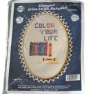 NeedleMagic, Inc. Stamped Cross Stitch Kit 9511 Color Your Life