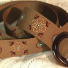 "Dimensions Savvy Stitches Medallion Ribbon Belts Embroidery Kit-1-1/2""X40"