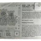 Printed Cross Stitch Kit- 2005-11066-CRS-TDB Teddy Bears Pillow