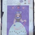 D & C AB Banner Girl with Pearls Embroidery Kit B4211